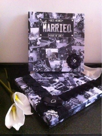 DIY - album rivestito martimonio bikers DIY - coated album bykers' wedding
