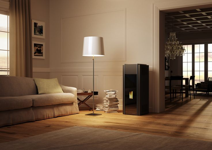 #palazzetti Adagio #wood #pellet #stove. For more information http://www.nutechrenewables.com/award-winning-ecofire-adage-wood-pellet-stove-by-palazzetti-2/