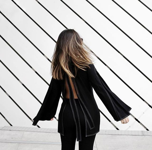 Black | back details | street style fall bells boho simple chic vibe