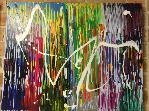 ColourInVibration.Abstract painting canvas modern acrylic