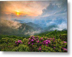 North Carolina Blue Ridge Parkway Spring Appalachian Mountains Nc Metal Print by Dave Allen