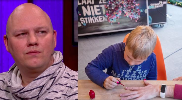 """Vader van nagellakheld Tijn doet bij RTL Late Night zijn verhaal: """"Ik sliep 16 uur per dag"""""""