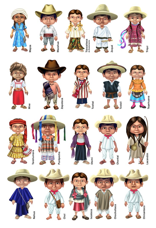 Atuendos de etnias mexicanas by elroyer.deviantart.com on @DeviantArt