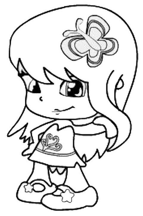 Cute Pinypon Coloring And Drawing Page Coloring Pages Coloring Pictures Color