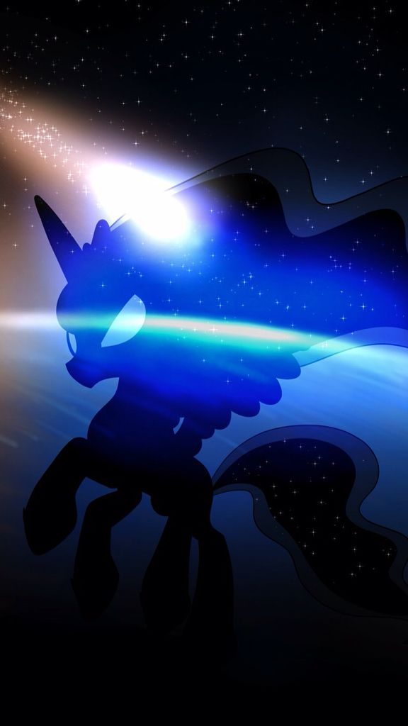 MLP. Princess Luna Silhouette. Space Background. Silhouette. Uploaded by SUNSET SHIMMER ♥️
