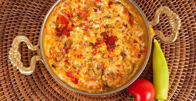 Menemen recipe: Traditional Turkish Scrambled Eggs #ATasteOf