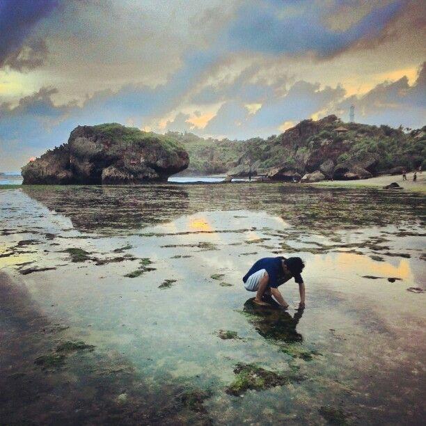 Kukup beach in yogyakarta.