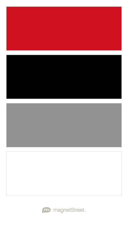 Classic Red Black Classic Gray And White Wedding Color