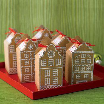 Cardboard gift houses