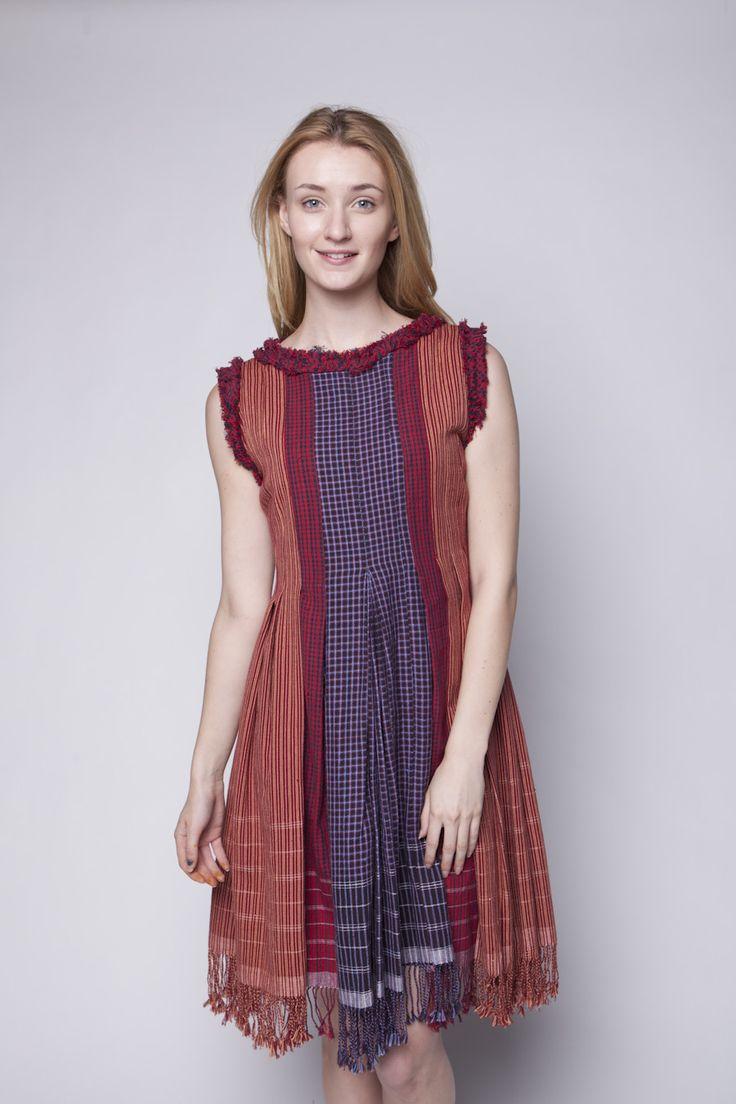Lekat Mini Flare Dress Tenun