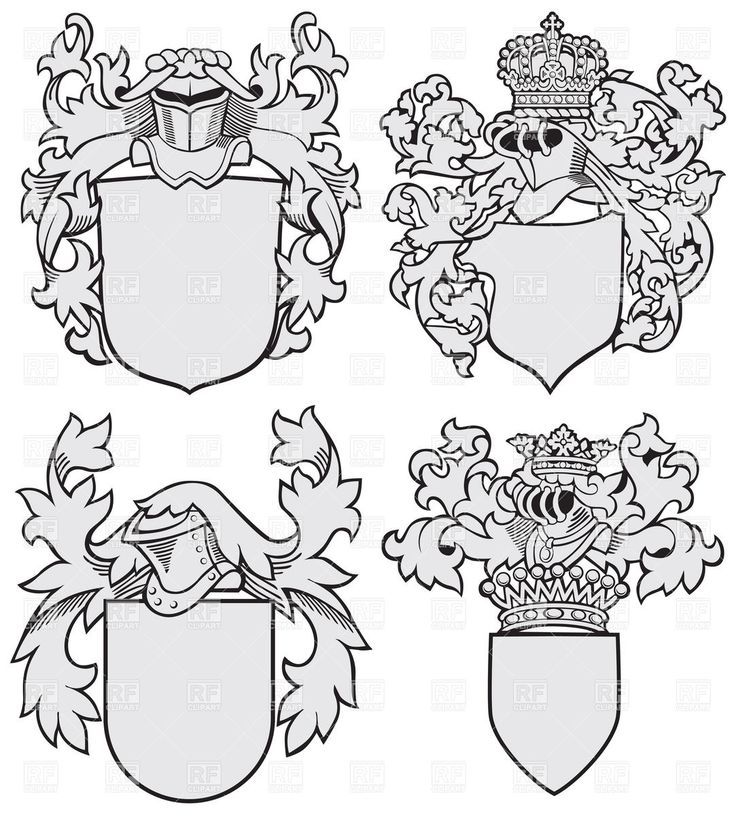Coat Of Arms Shield Outline Medieval coats of arms blank-for family reunion?