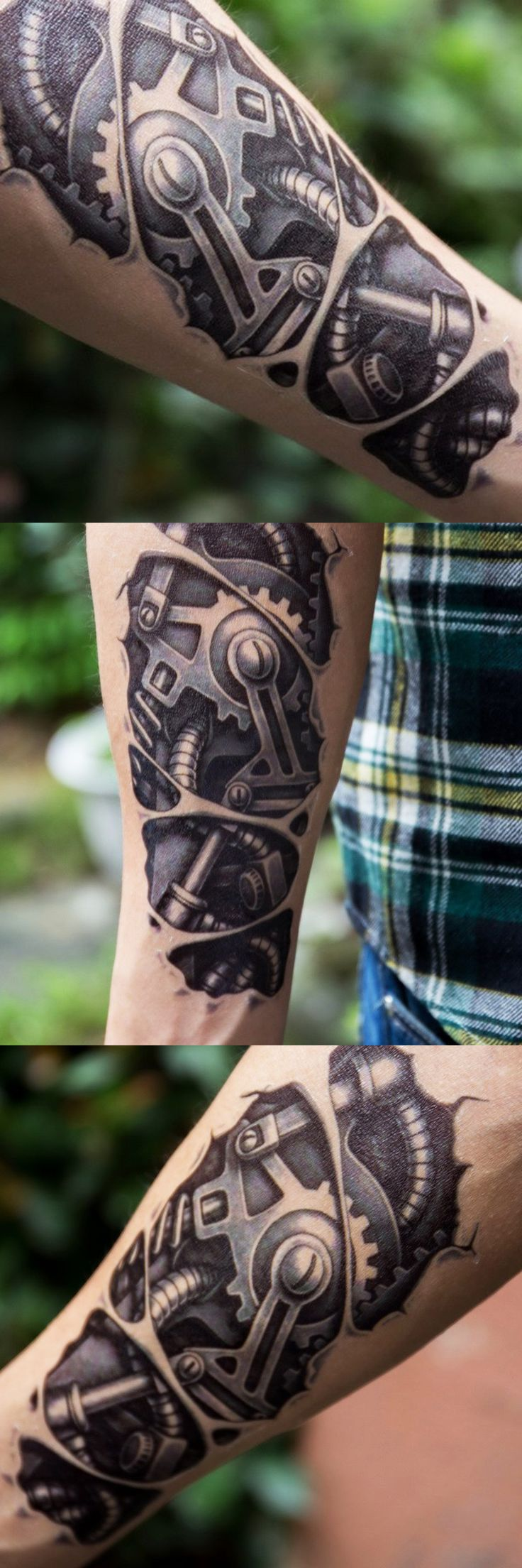 Robot Tattoo Ideas for Women for Men - Bionic Arm Sleeve Tat - Avaliable at MyBodiArt.com