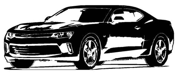 Chevy Svg File 2018 Chevrolet Camaro Zl1 Clipart Vector Signage