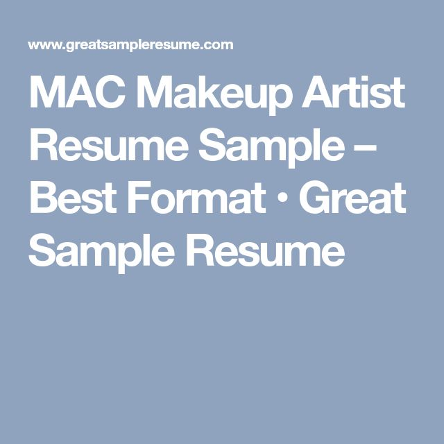 The 25+ best Artist resume ideas on Pinterest Artist cv, Graphic - sample resume for makeup artist