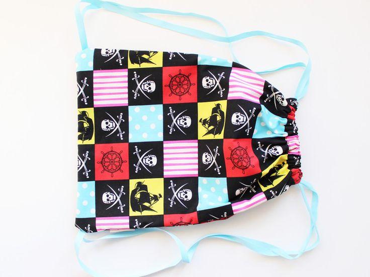 Plecakoworek 30x40 dla małego pirata w lagablotte na DaWanda.com / Multicolor backpack for kids on DaWanda.com