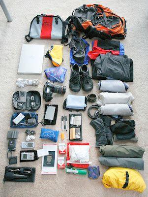 Hiking gear.