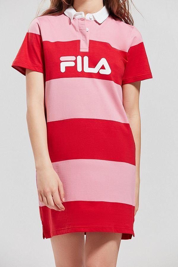 04e702b02f5d FILA + UO Sylvia Striped Rugby Dress | New Arrivals | Fila dress ...
