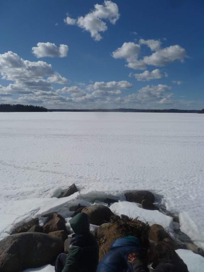 Afbeelding Nömmen, meer in Kristinelund, op 2 km van ons huis in Björköby.