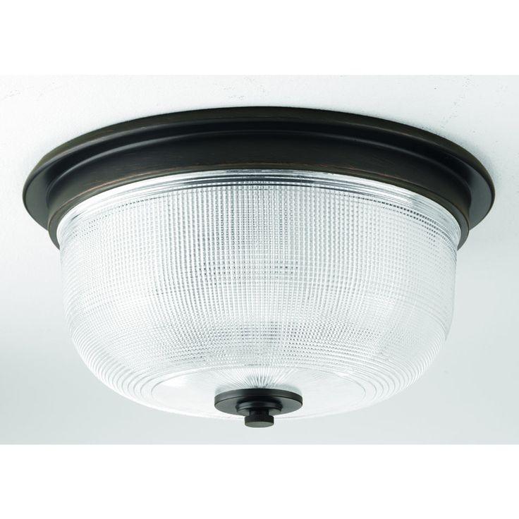 Progress Lighting # 12.313-in W Venetian Bronze Standard Ceiling Flush Mount Light