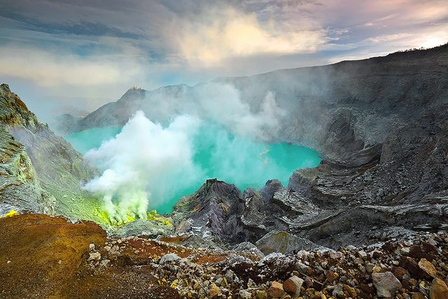 Magical.    Ijen Crater in Java, Indonesia