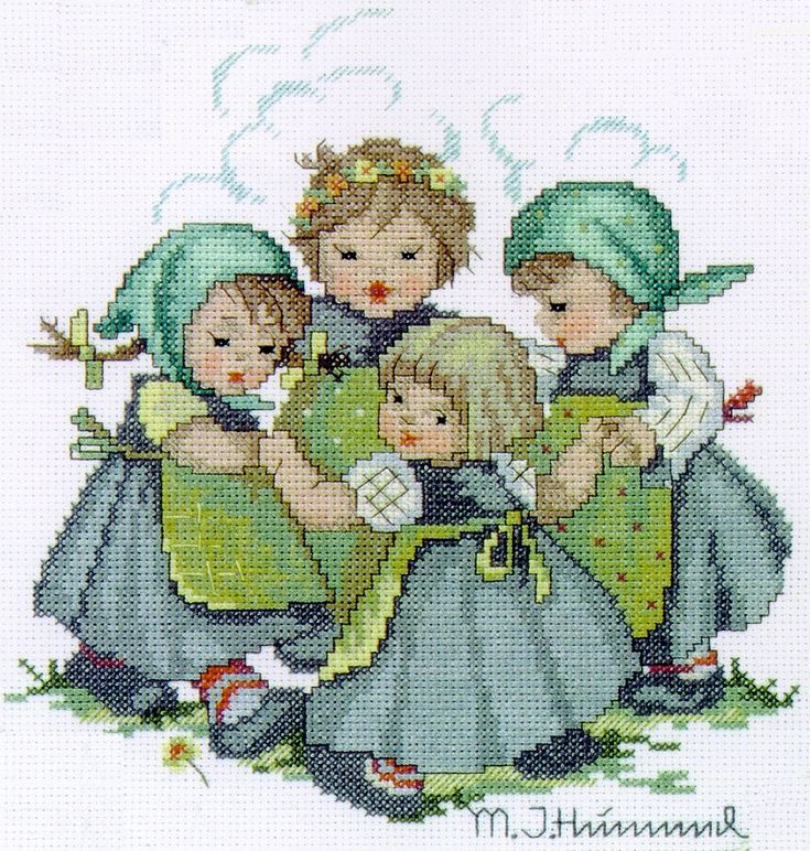 "Counted cross stitch kit "" Ring around the Rosie"""