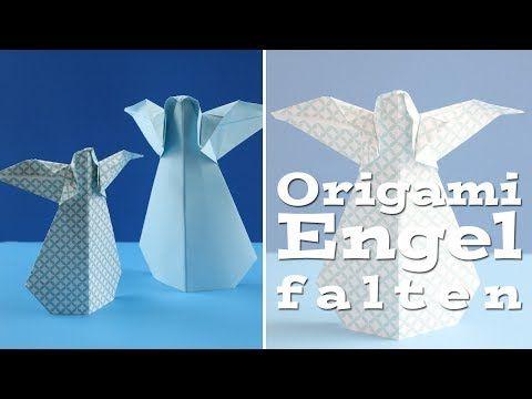 Origami Engel falten - Anleitung für einen Faltengel aus Papier - Talu.de