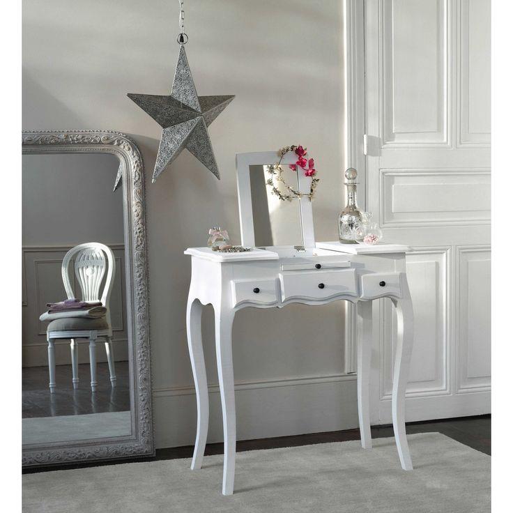 finest coiffeuse blanche l cm mathilde maisons du monde with meuble coiffeuse maison du monde. Black Bedroom Furniture Sets. Home Design Ideas