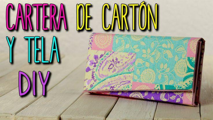 Cartera de Carton y Tela - Monedero Estilo Vintage - DIY Cartonaje
