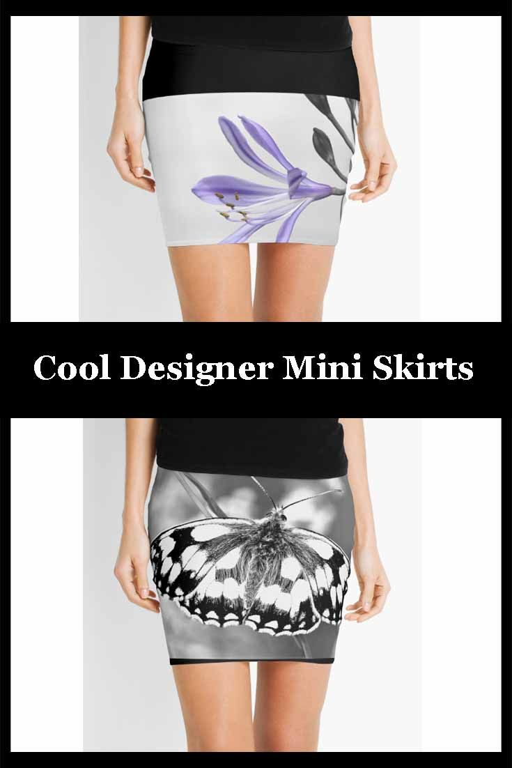 Selection of designer mini skirts