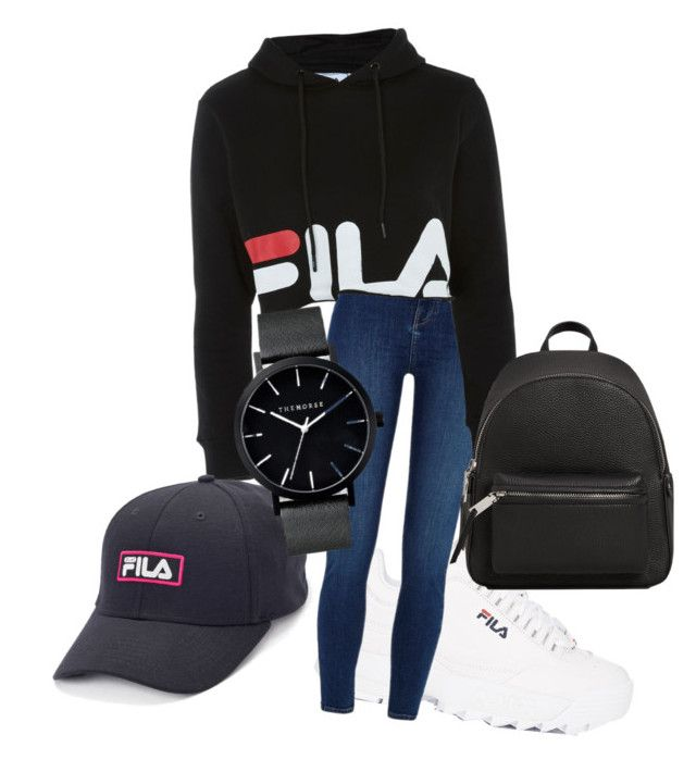 """fila set"" by thepenetrator on Polyvore featuring Fila, River Island and MANGO"
