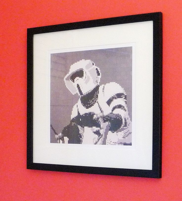 """Star Wars Scout Trooper print of original Lego® mosaic (12"""" square) by OxfordBrickArt on Etsy"""