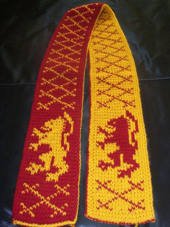 Bufandas Harry, Gryffindor Inspirada, Alfarero Gryffindor, Bufanda De Gryffindor, Harry Potter, Tejer Nerd, Tejidos De Punto Nerd, Knitting Color,