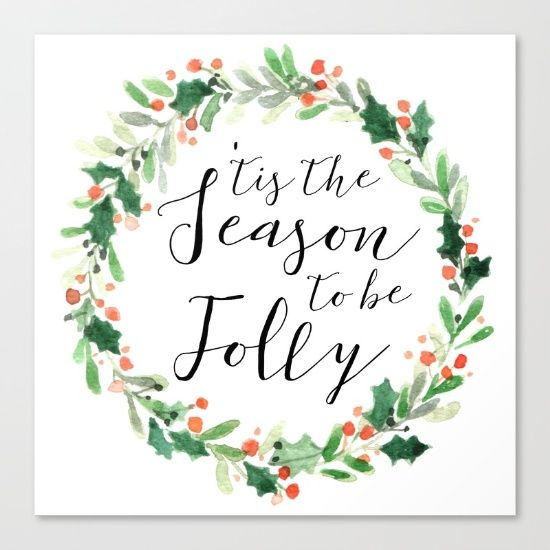 'tis the Season to be Jolly by McGovern Studio Holiday Canvas Print