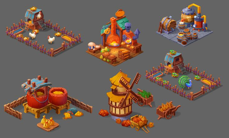 ArtStation – Casual farm, Game_Art Studio – farm