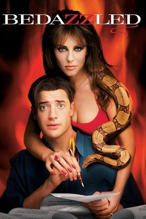 Bedazzled (2000) Directed by Harold Ramis, starring  Brendan Fraser, Elizabeth Hurley, Frances O'Connor.  Hopeless dweeb Elliot Richards is granted seven wishes by the devil to snare Allison, the girl of his dreams, in exchange for his soul.