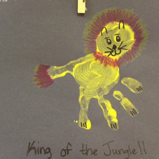 Lion craft - star of school for jungle theme?