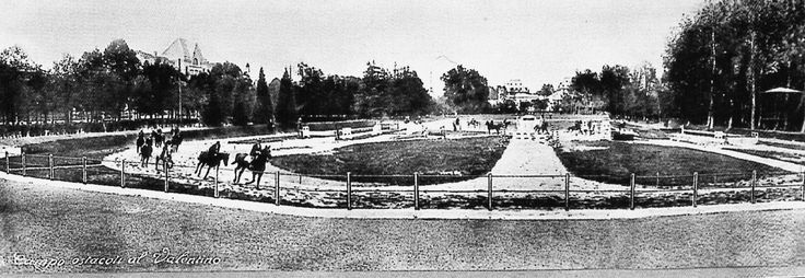 Torino, 1930 ca. -  il Galoppatoio del Valentino.