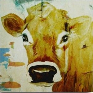 Sweet Cow Face Canvas Print