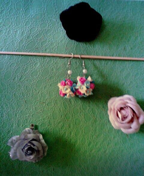 Flowers earring FIMO (I)