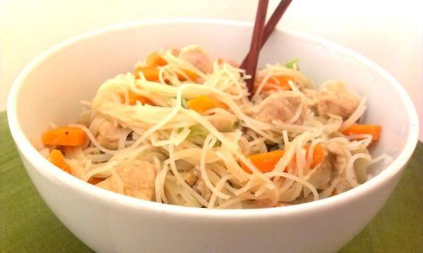 Pražené čínske rezance - recept