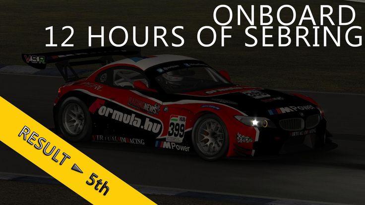 12 Hours of Sebring | PSRL WEC 2014 | Balazs Toldi OnBoard