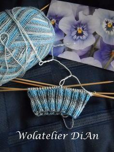 Weblog Wolatelier Dian: Sokken breien - basispatroon