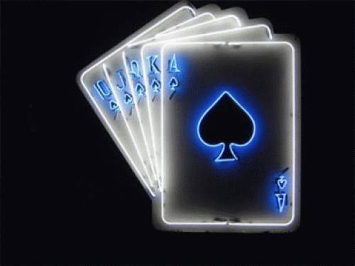 Blue Black Neon Playing Cards Casino Theme Party Pinterest Playing Cards Neon And Light