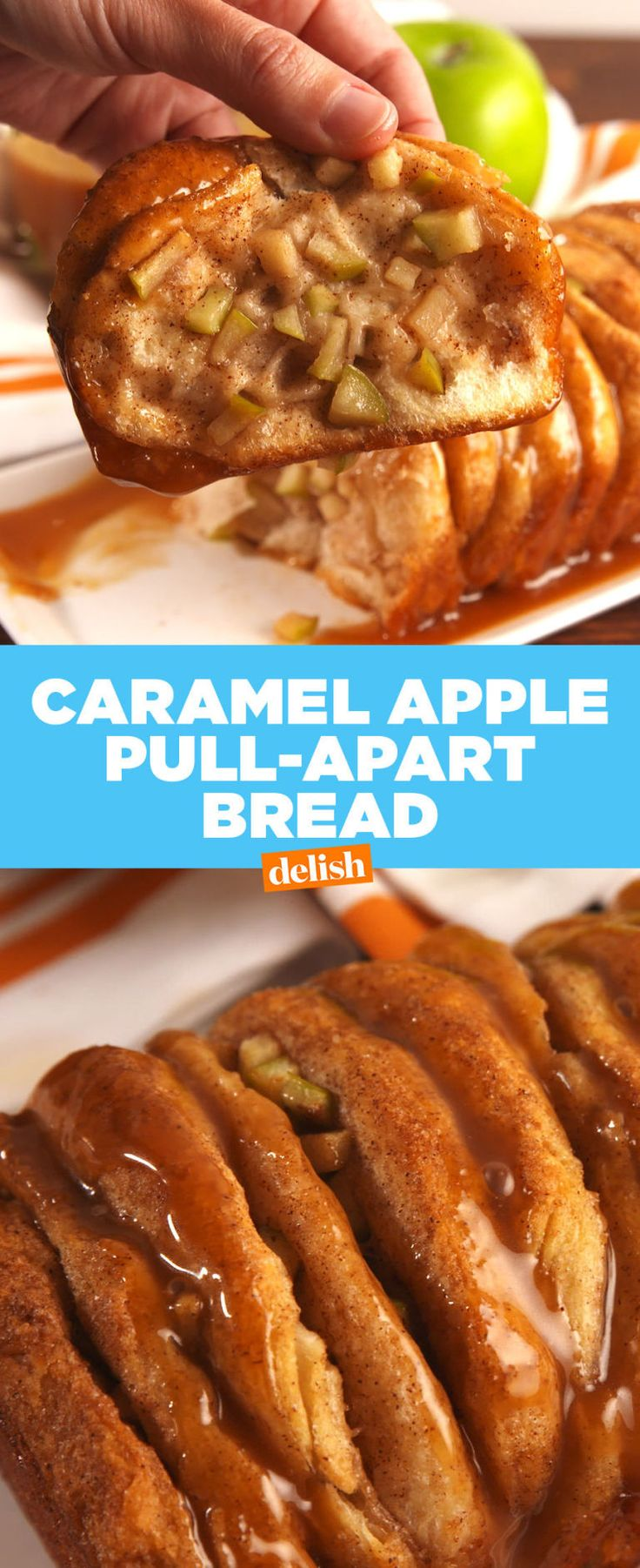 Caramel Apple Pull-Apart Bread