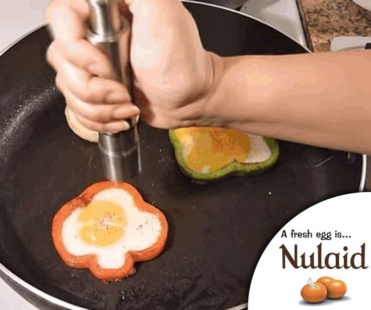 #LifeHack: A healthy hack for making your egg perfectly round is to cook it inside an onion ring or a pepper ring. Simply slice a ring from your onion or pepper and crack the egg into it inside the pan. #Nulaid