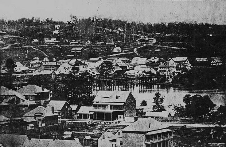 Early view of Brisbane, ca. 1866