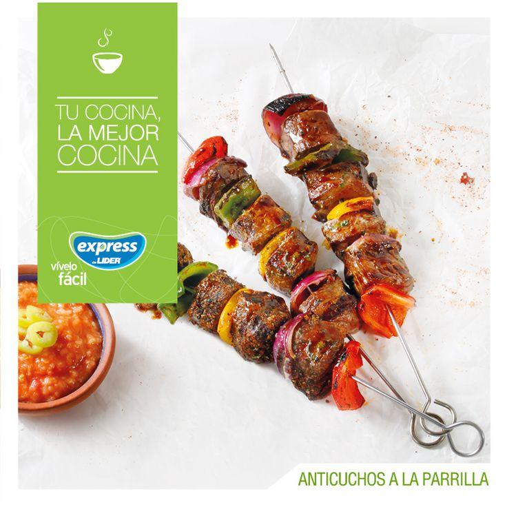 Anticuchos a la parrilla con dos tipos de marinado #Receta #Recetario #ExpressdeLider #Antichucho #Carne #Marinado #Parrilla