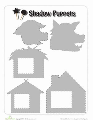 the three little pigs puppet templates - three little pigs puppets puppet worksheets and third