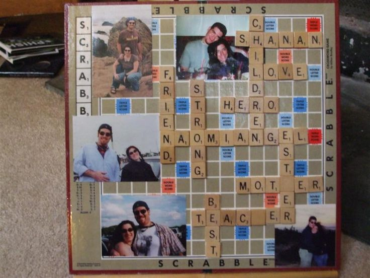 Scrabble Board Collage/Easel - PAPER CRAFTS, SCRAPBOOKING & ATCs (ARTIST TRADING CARDS)