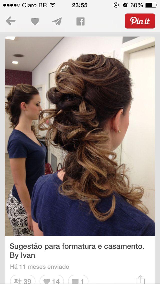 Idéia de penteado de lado! Lindo! #noiva #hair